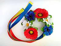 """Украинский веночек с лентами """"Полевые цветы"""""""