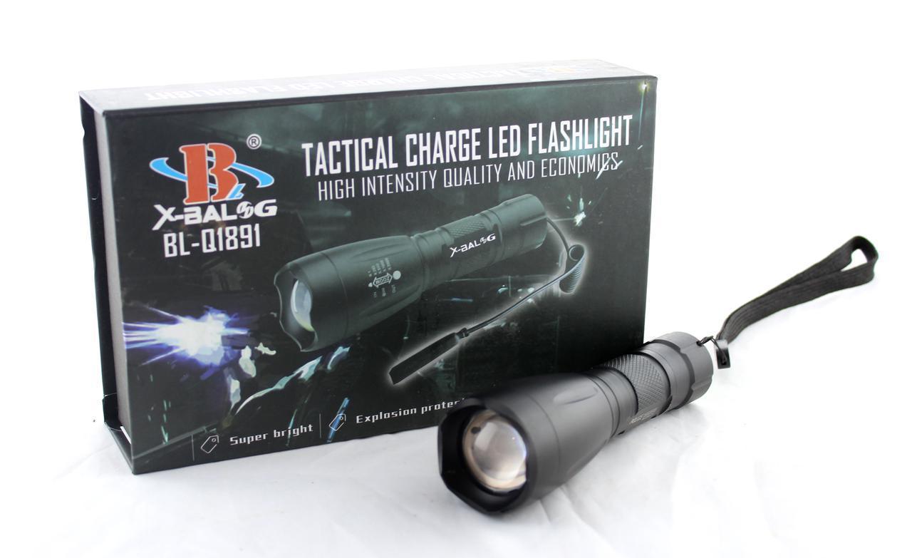 Тактический фонарьBL Q1891-T6 police / светодиодный ручной фонарь /CREE T6