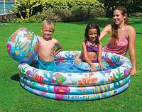 Бассейн надувной детский Intex 59469 с кругом и мячом, бассейны для детей, Интекс