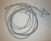 Шнур для утюга с латунной вилкой 10А 220В (сечение провода 2*0,75мм²) 2м, фото 1