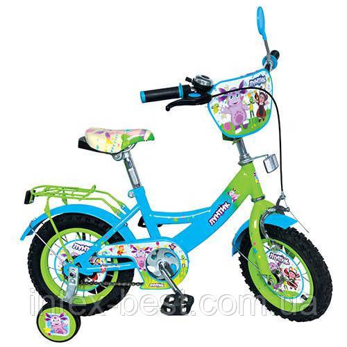 Детский двухколесный велосипед 12 дюймов LT 0050-01 Лунтик