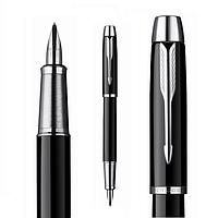 Ручка Parker перо черная с хромом