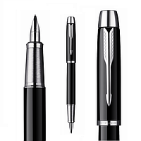Перьевая ручка Паркер IM, чёрная, глянцевая, хром