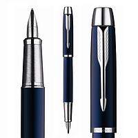 Перьевая ручка Parker IM тёмно-синяя с хромом