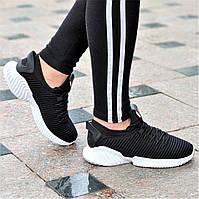 Женские черные кроссовки Alphabounce Instinct, легкая белая подошва, удобные и практичные (Код: 1385а), фото 1