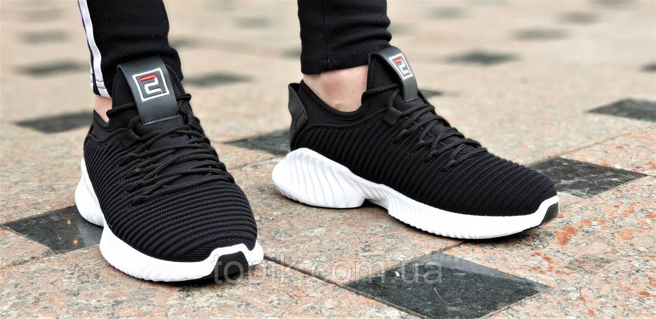 6862c03a1 ... Женские черные кроссовки Alphabounce Instinct, легкая белая подошва,  удобные и практичные (Код: ...