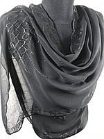 """Красивый черный шарф """"Зубчик"""" (цв.11)"""