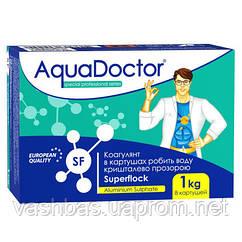 Коагулирующее средство в картушах AquaDoctor Superflock. Химия для бассейна AquaDoctor