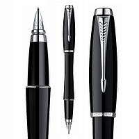 Ручка Parker URBAN перо, чёрный глянец с хромом