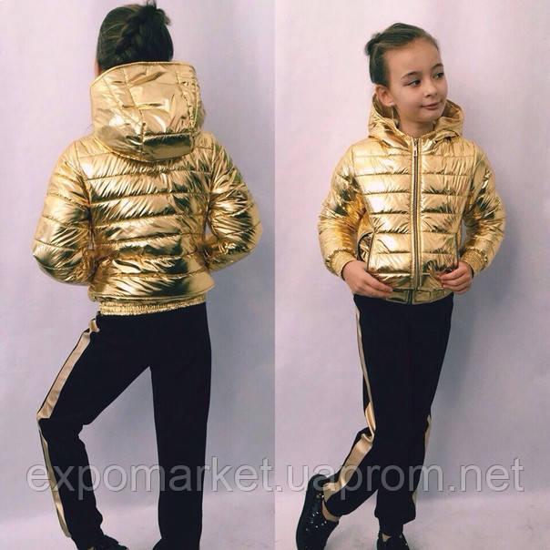 Куртка детская модная для девочки весна-осень