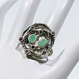 Красивое кольцо изумруд и родолит в серебре. Размер 18,5-19 кольцо с изумрудом и родолитом Тайланд, фото 5