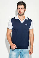 Поло мужское стильное AG-0006590 Сине-белый