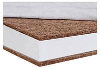 Матрас кокосовый детский Солодких Снів Organic Cotton Comfort Premium  12 см (кокос, полиуретан, кокос) белый