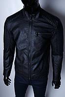 Куртка мужская демисезонная кожзам GS 2908 черная