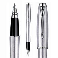 Ручка Паркер Urban, перьевая, стальной цвет, отделка хром