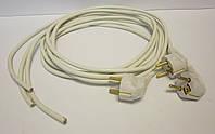 Шнур сетевой с евровилкой 16А 220В (ПВС 3*0,75мм²) 1,5 белый