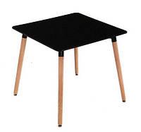 Стол на кухню квадратный МДФ Нури 80х80 черный Группа СДМ