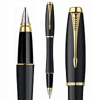 Перьевая ручка Паркер Urban, чёрная, матовая, позолота