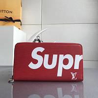 591e8eb6782e Женский кожаный кошелек луи витон Louis Vuitton. Suprim портмоне клатч  суприм