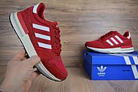 Мужские спортивные кроссовки Adidas zx 500 красныеРеплика хорошего качества