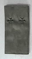 Погоны оливковые тканевые с вышивкой, фото 1