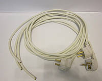 Шнур сетевой с евровилкой 16А 220В (сечение провода 3*0,75мм²) 2м белый