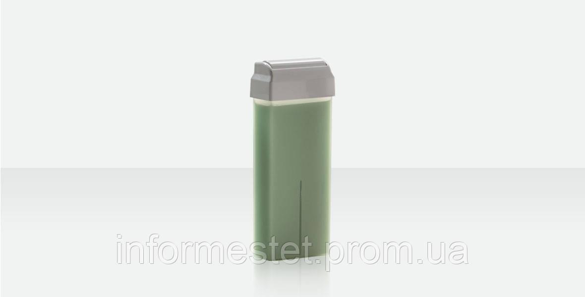 Воск в кассете Зеленое яблоко 100 г, широкий ролик Ital Wax Италия