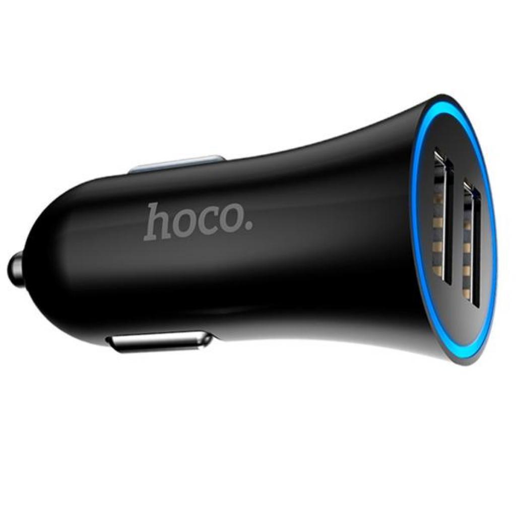 Зарядное устройство HOCO UC204 2*USB, 2.4A, Black (60785)