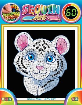 Набор для творчества Sequin Art 60 White Tiger SA1326