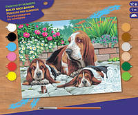 Набор для творчества Sequin Art PAINTING BY NUMBERS SENIOR Basset Hounds SA0044