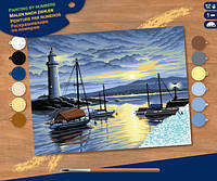 Набор для творчества Sequin Art PAINTING BY NUMBERS SENIOR Harbour at Sunrise SA0427