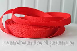 Стропа ременная лента (репсовое плетение) красная 2см