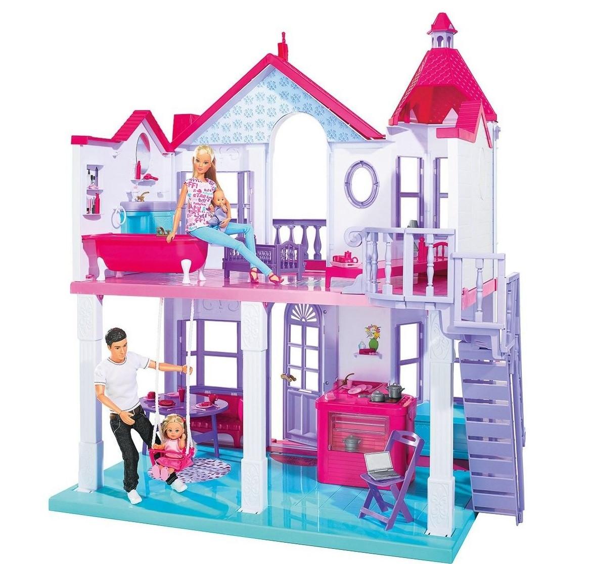 Кукольный домик двух этажный