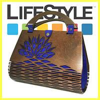 6d85ac6c8b86 Оригинальная женская сумка Dream Case из кожи и дерева. Сумка ручной работы