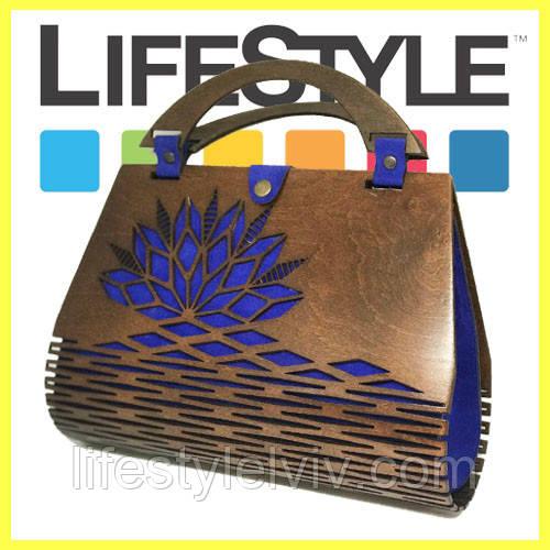 ab8b5c5fdce1 Оригинальная женская сумка Dream Case из кожи и дерева. Сумка ручной работы  - Интернет магазин