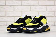 Кроссовки мужские Balenciaga Triple S Black Yellow многослойная подошва. ТОП Реплика ААА класса., фото 3