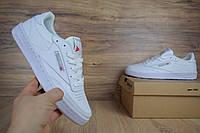Мужские спортивные кроссовки Reebok workout белые/серая надписьРеплика отличного качества, фото 1