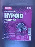Масло Teboil Hypoid 80W90 20л