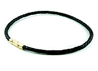 Браслет кожаный Scappa SW — 860N Black Gold