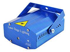 Лазерный проектор, стробоскоп, диско лазер UKC EMS-07 c триногой Blue