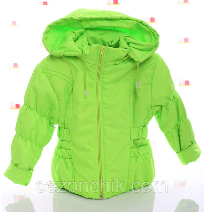 Салатовая красивая детская курточка на девочек
