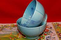 Голубая керамическая пиала