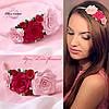 Обруч для волос с Розовыми розами из полимерной глины