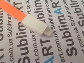 Usb кабель 20 см для iPhone, iPod, iPad 8 pin (оранжевый), фото 2