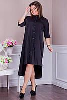 Стильное платье-рубашка электрик 8244