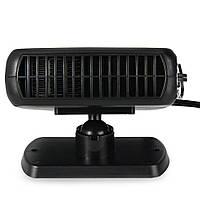Обогреватель в автомобиль, вентилятор от прикуривателя 2 в 1, чёрный