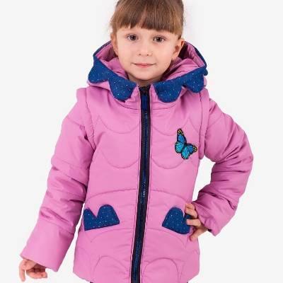 Демисезонная куртка жилетка для девочек 2-6 лет