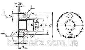 Гайка круглая с двумя торцевыми отверстиями DIN 547  от М 5 до М 10, фото 2