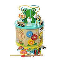 Развивающая деревянная игрушка (бизиборд, пальчиковый лабиринт, рыбалка) 2064