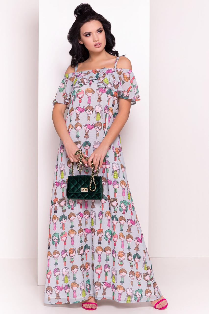 22d629163561 Женское летнее платье в пол Пикабу